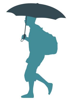 Paraguas plegable excentrico Cacharel