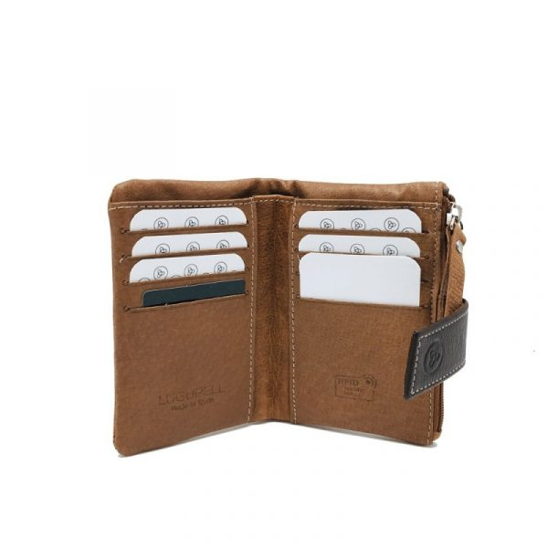cartera billetera de mujer en piel lugupell