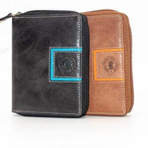 cartera billetera de mujer en piel coronel tapioca