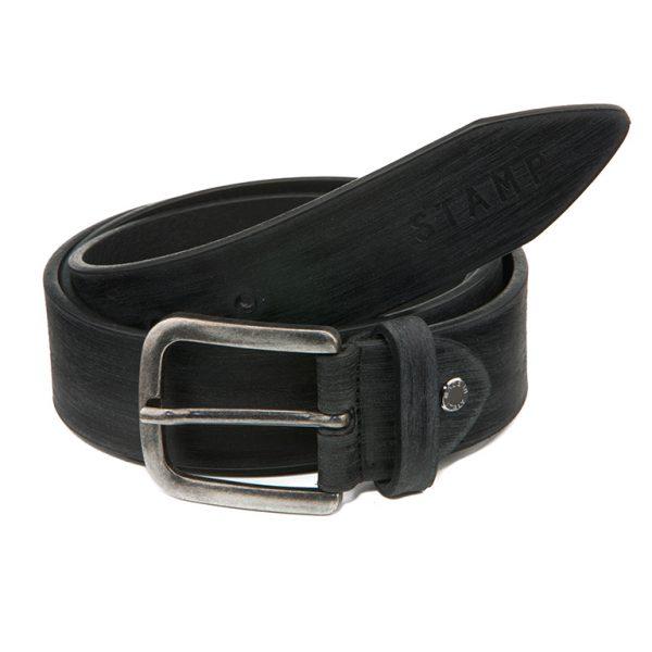 Cinturón de hombre de piel stamp
