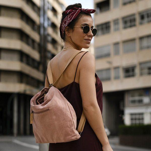 bolso mochila de mujer stamp