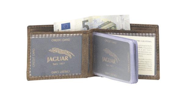 catera tarjetero de piel Jaguar