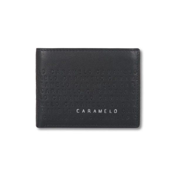 Cartera billetera de caballero en piel con monedero Caramelo